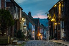 Night falls on Mermaid Street Photo by Slawek Staszczuk -- National Geographic Your Shot Rye England, Places Around The World, Around The Worlds, English Countryside, East Sussex, Street Photo, National Geographic Photos, Your Shot, The Little Mermaid