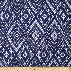 Fabric for Roman Shade or Panel Window Treatment | Robert Allen Strie Ikat