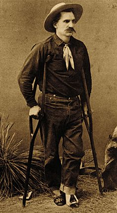 Chief of Scouts Al Sieber is crippled for life after his leg stops a .45-70 slug during the Apache Kid melee.