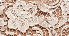 lace fabric cotton lace 3D flowers  M12 by StarryFashion on Etsy, $22.00