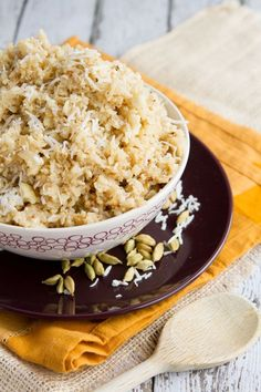 Coconut Cauliflower Rice #paleo #glutenfree #vegan