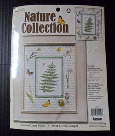 $14.89/FREE SHIP! ~~NEW, sealed 18 ct. Counted Cross Stitch kit Woodland Fern by Janlynn Kit #1155-59 contains a 3-D dragonfly charm ~Stitchery, Needlearts, Needlework, Needlecrafts, Stitchers ~~https://www.etsy.com/shop/ShellysSweetFinds