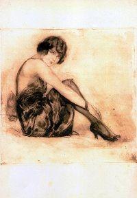 Luigi Bompard - Una posa disinvolta 1921