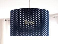 Lampenschirme - Lampenschirm, Sterne, marine blau, Kinderzimmer - ein Designerstück von Le-Petit-Villa bei DaWanda
