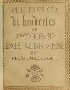 Album de broderies au point de croix