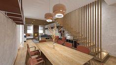 STUDIO SAGITAIR | Architettura - Interior Design - Render - Progetto Design Hotel, E Design, Interior Design, Conference Room, Studio, Table, Shopping, Furniture, Home Decor