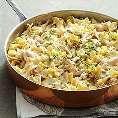 Lemon Caper Tuna and Noodles with Alfredo From Better Homes and Gardens, ideas and improvement projects for your home and garden plus recipes and entertaining ideas.