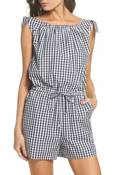 Find and compare Tory Burch Gingham Check Romper across the world's leading online stores! Spring Fashion Outfits, Spring Summer Fashion, Fashion Dresses, Short Outfits, Casual Outfits, Tory Burch, Tie Front Blouse, Gingham Check, Rompers Women