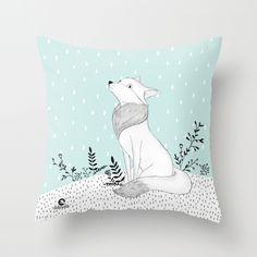 "Decorative Pillow - Fox Lady 19"""