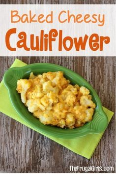 Baked Cheesy Cauliflower Recipe! ~ from TheFrugalGirls.com ~ here's a simple and delicious vegetable dinner side that everyone will love!