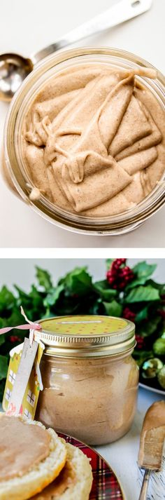 Cinnamon Honey Butter from The Food Charlatan // This easy to make spread can be used to top rolls on Thanksgiving, or be given away as neighbor gifts for Christmas!