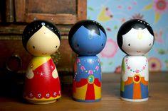 Radha Krishna Balaram dolls by MumumuShop on Etsy, $25.00