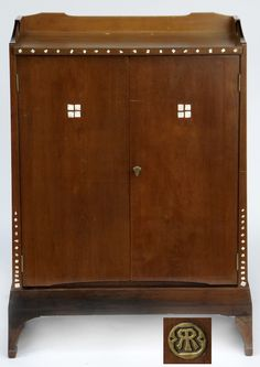 Richard Riemerschmid Cabinet, 1902-1903, signed with designer's cypher.  |  SOLD $45,120 Germany 2011