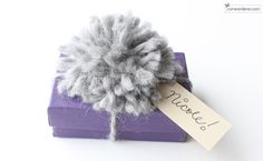 Cute and easy pompon tutorial for gift wrap and so much more! (think wreaths, decor, pillows, etc!)