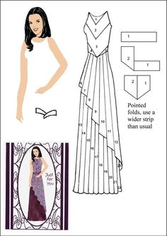 Slim lady Iris Folding Templates, Iris Paper Folding, Iris Folding Pattern, Paper Clothes, Sewing Clothes, Card Patterns, Dress Patterns, Dress Card, Folded Cards