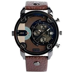 Christmas Gift Modern Large Size Watch Men Date Bracelet Watch Sports Wristwatch Military Luxury Leather Strap Big Male Clock