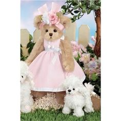 """Paulina and Pom Pom 14"""" Bearington Dressed Teddy Bear with White Poodle (Toy)  http://postteenageliving.com/amazon.php?p=B00134RXAM"""