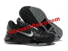 766ed4a011ba Nike Zoom Kobe 7(VII) Elite Shoes Black Gray Nike Zoom