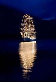 Love this light show! Night at sea, on Pinterest. *** Waiting for my ship to come in.... and since ive been waiting awhile.. im expecting something like this......***