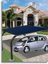 Solar Electric Vehicle Charging Carport