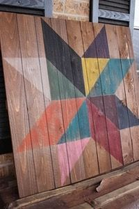 Image of Color Block Star Barn Quilt