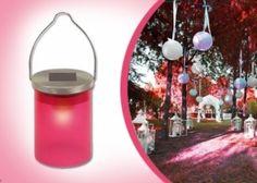 LED-es kerti lámpa beépített napelemmel és érzékelővel 4 választható színben