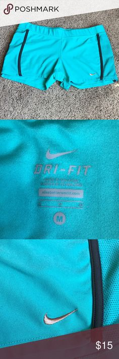 Nike Women's Dri-Fit Shorts Women's turquoise Nike dri-fit shorts, size medium. Worn a couple of times and in excellent condition. No trades. Comment with questions :) Nike Shorts