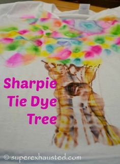 How to make Sharpie Tie Dye: zacchaeus crafts - Superexhausted's Blog