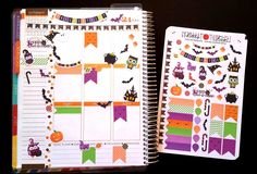 New, Halloween Set small, Fits Erin Condren, Planner Stickers, Kiss Cut, Calender Stickers, Life Planner Stickers, Scrapbooking, Owls by LillyTop on Etsy
