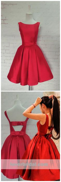 Bright Red Elegant Simple Cheap Short Homecoming Dresses 2018, CM550 #homecoming