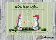 Two Peas in a Pod Baby Shower InvitationTwin by FarmsteadDesigns