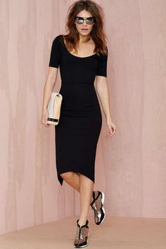 Nasty Gal Vivia Midi Dress - Going Out | Body-Con | Midi + Maxi | Dresses |  | Dresses