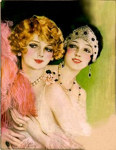magazine covers, pictori review, bob hairstyles, earl christi, cover art, 1920s, vintage magazines, flappers, flapper girls