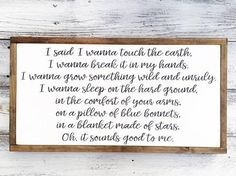 Cowboy Take Me Away Wood Framed Sign Farm House Inspired Dixie Chicks