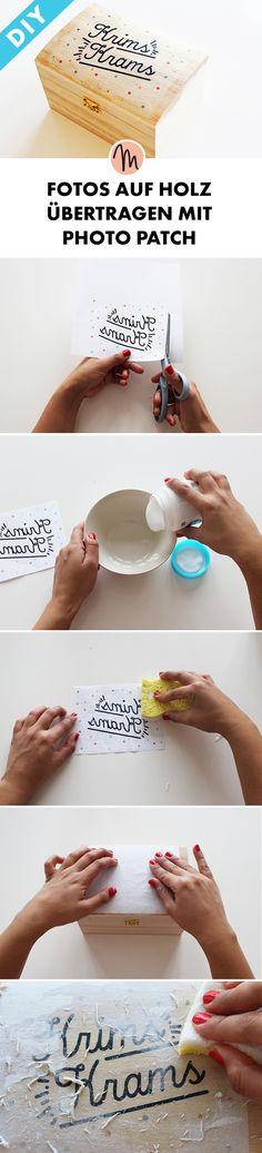 Fotos auf Holz übertragen mit Photo Patch - DIY-Anleitung via Makerist.de