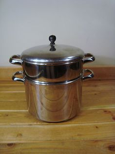 Farberware 8 QT Stainless Steel Dutch Oven Stock POT With Deep Steamer LID | eBay