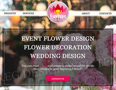 """Check out new work on my @Behance portfolio: """"Website Design for Flower Decor Company"""" http://be.net/gallery/58597795/Website-Design-for-Flower-Decor-Company"""
