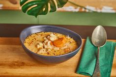Tejszínes karfiolleves Hummus, Risotto, Nom Nom, Oatmeal, Food And Drink, Breakfast, Ethnic Recipes, Soups, Street