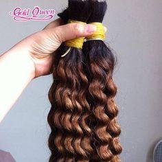 7A Hot ombre human hair brazilian two tone human hair braiding hair bulk 1b/30#…