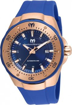TechnoMarine Watch Manta Mens #add-content #bezel-fixed #bracelet-strap-rubber #brand-technomarine #case-material-rose-gold-pvd #case-width-48mm #classic #date-yes #delivery-timescale-1-2-weeks #dial-colour-blue #gender-mens #movement-automatic #new-product-yes #official-stockist-for-technomarine-watches #packaging-technomarine-watch-packaging #style-dress #subcat-manta #supplier-model-no-tm-215087 #warranty-technomarine-official-2-year-guarantee #water-resistant-300m