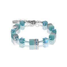 f2e56d6e50abc £59 + free UK delivery. Stunning Coeur de Lion bracelet in aqua colours.