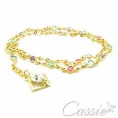 ✨ Pulseira Coloré Due - dupla, folheada a ouro com cristais acrílicos coloridos e pingente de cristal de acrílico branco. ✨ Temos outros modelos!!  www.cassie.com.br ✨ Apenas R$ 25,90  ➖ ➖ ➖ ➖ ➖ ➖ ➖ ➖ ➖ ➖ ➖  ⏩ Use o Cupom de desconto CA10 e ganhe 10% de desconto. ⏪ ➖➖➖➖➖➖➖➖➖➖➖➖➖ #Cassie #semijoias #acessórios #moda #fashion #estilo #inspiração #tendências #trends #prata #charms #cupomdedesconto #instajoias #love #pulseirismo #zirconias #folheado #dourado