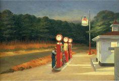 """lonequixote: """" Edward Hopper Gas """""""