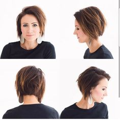Kilee from ONE little MOMMA. Totally getting this haircut next time! Medium Hair Cuts, Short Hair Cuts, Pixie Cuts, Trendy Hairstyles, Bob Hairstyles, Angled Bob Haircuts, Short Haircut Styles, Corte Y Color, Haircut For Thick Hair