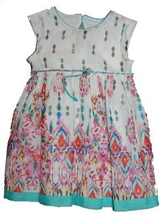 Mayoral Watercolor Floral Cap Sleeve Girls Sundress from Mayoral - Spain at Pumpkinheads