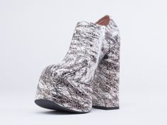 Jeffrey Campbell Fowley in White Black Gold Scribble at Solestruck.com