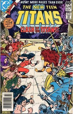 THE NEW TEEN TITANS 12. CLASH OF THE TITANS. MARV WOLFMAN, GEORGE PEREZ. DC COMICS