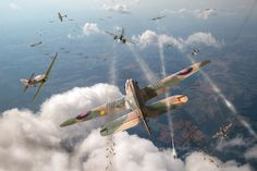 Battle of Britain Ww2 Aircraft, Fighter Aircraft, Military Aircraft, Fighter Jets, War Thunder, Aircraft Painting, Airplane Art, Ww2 Planes, Battle Of Britain