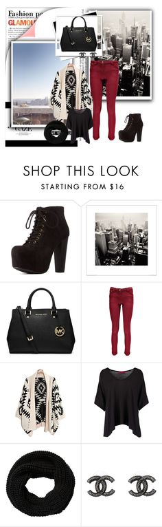 """""""NYC"""" by tess-302 ❤ liked on Polyvore featuring Charlotte Russe, MICHAEL Michael Kors, Boohoo, Chanel, Winter and NYC"""