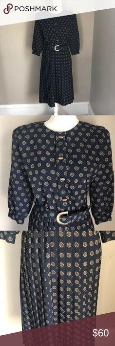 c5ae2b79c97 Vintage Breli Originals Print Dress Gorgeous print dress with belt. Midi  length